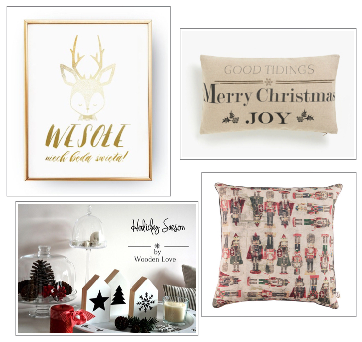 dekoracje świąteczne: poszewki bożonarodzeniowe: plakaty śiąteczne: drewniane ozodoby.jpg