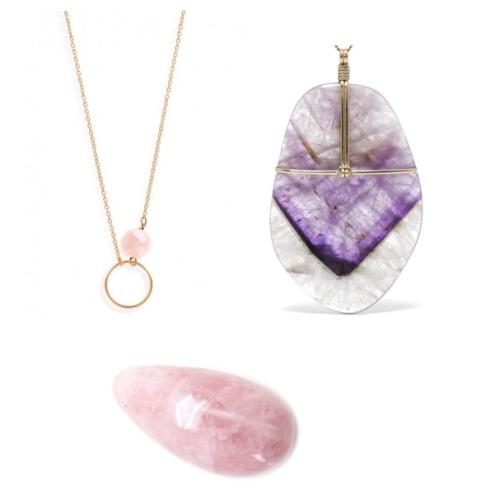 biżuteria z kryształami: polańska&co: venusrox crystals: kwarc różowy.jpg