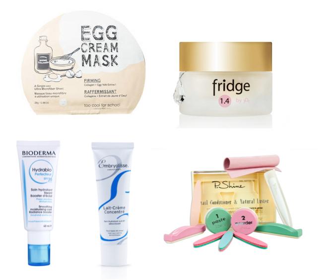 maseczka z jajkiem too cool for school: krem pod oczy fridge: Bioderma krem z filtrem: Embryolisse.jpg