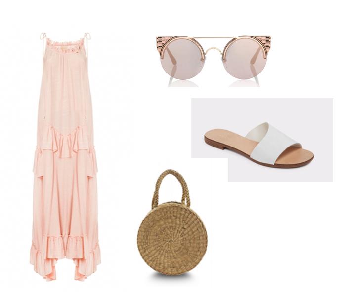 Sukienka Bizzu: sandały Aldo: koszyczek Mapaya: oklulary BVLGARI Eyewear: moda ss18: trendy róż.jpg